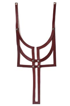 Anne Overbeek Bordeaux Leather Necklace - Product List Image