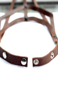 Shoptiques Product: Brown Leather Necklace