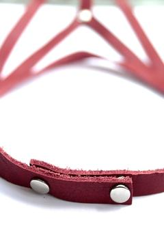 Shoptiques Product: Red Leather Necklace
