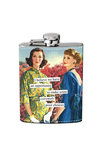 Anne Taintor Poor Choices Flask from California by Casual Island — Shoptiques