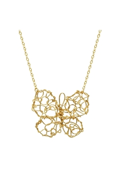 Shoptiques Product: Gold Butterfly Necklace