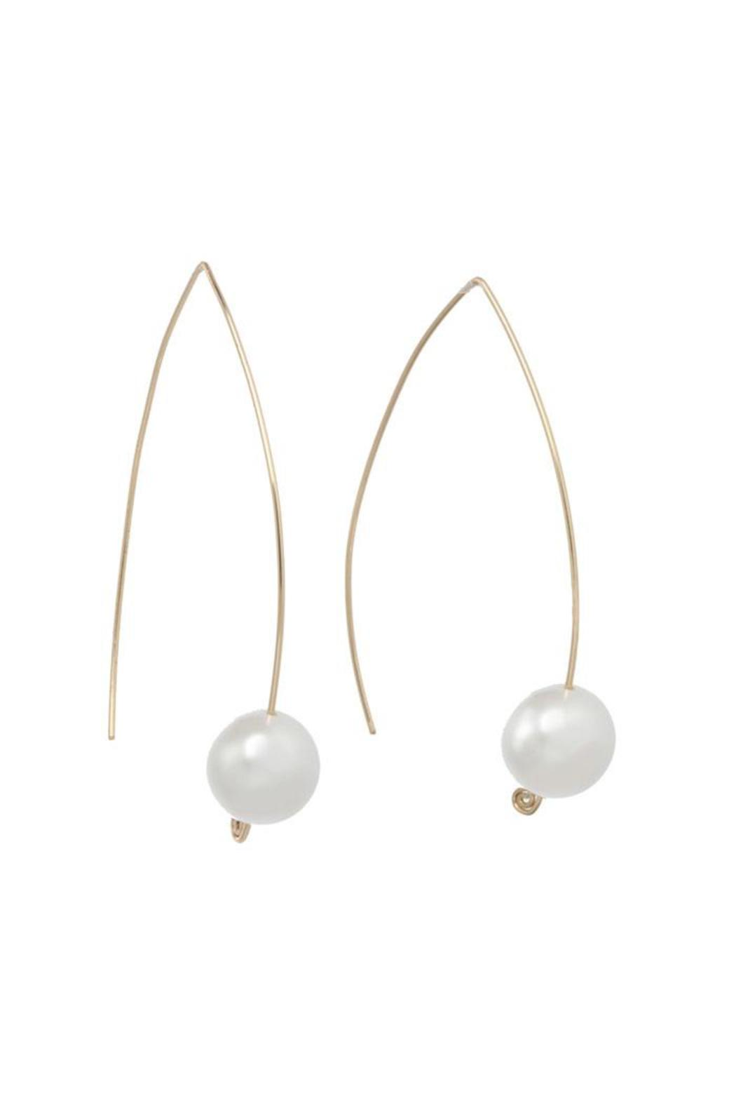 Anne Woodman Pearl Wishbone Earrings Front Cropped Image