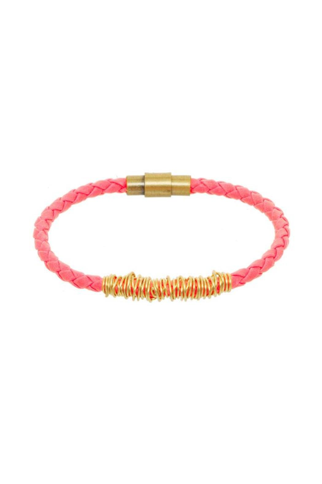 Anne Woodman Pink Bolo Bangle - Front Cropped Image