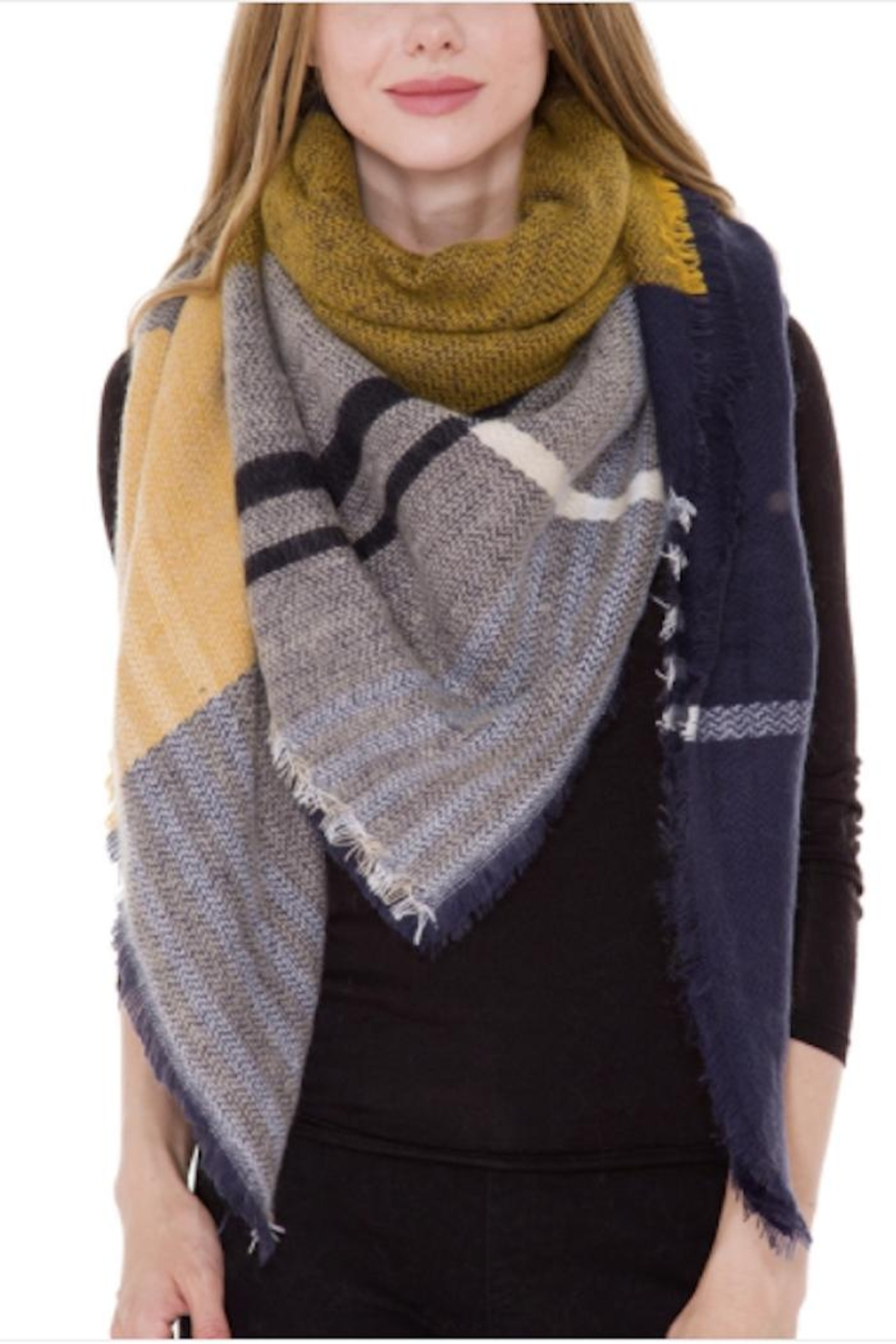 Anne Woodman Plaid Blanket Scarf - Main Image