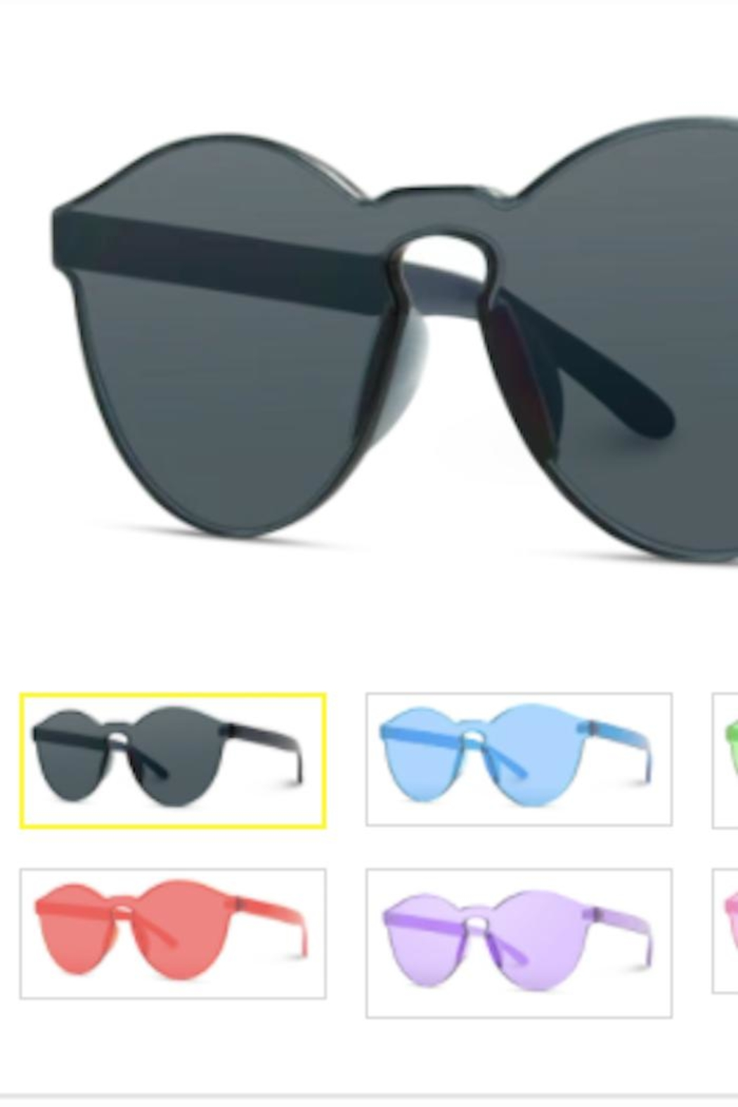 Anne Woodman Transparent Round Sunglasses - Front Cropped Image