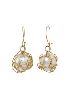 Anne Woodman Wrapped Pearl Earrings - Product List Image
