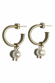 Anneaux Bleus Jewelry Large Pearl Hoops - Product Mini Image