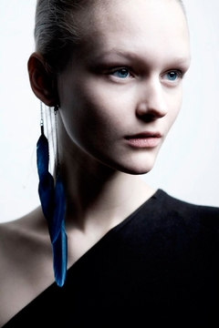Anni Jürgenson Blue Ear Cuff - Alternate List Image