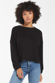 z supply Annie Soft Rib L/S Top - Front cropped