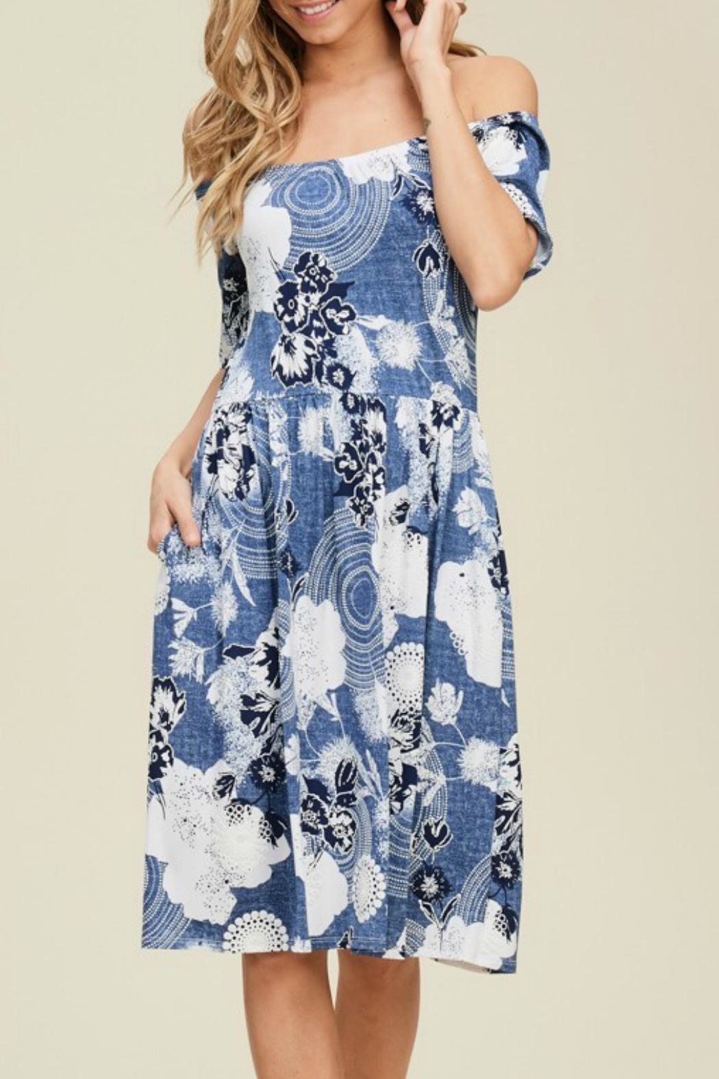 annabelle Annie Venecia-Print Dress - Front Cropped Image
