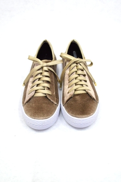 Shoptiques Product: Capuccino Velvet Sneakers