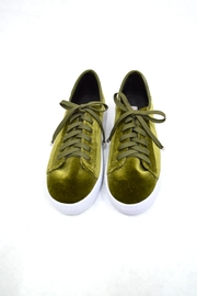 Annik Flats Green Velvet Sneakers - Product Mini Image