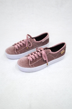 Shoptiques Product: Pink Velvet Sneakers