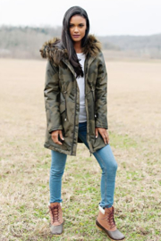 Fabulous Furs Anorak Coat - Front full body