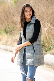 Anorak Houndstooth Puffer Vest - Front cropped