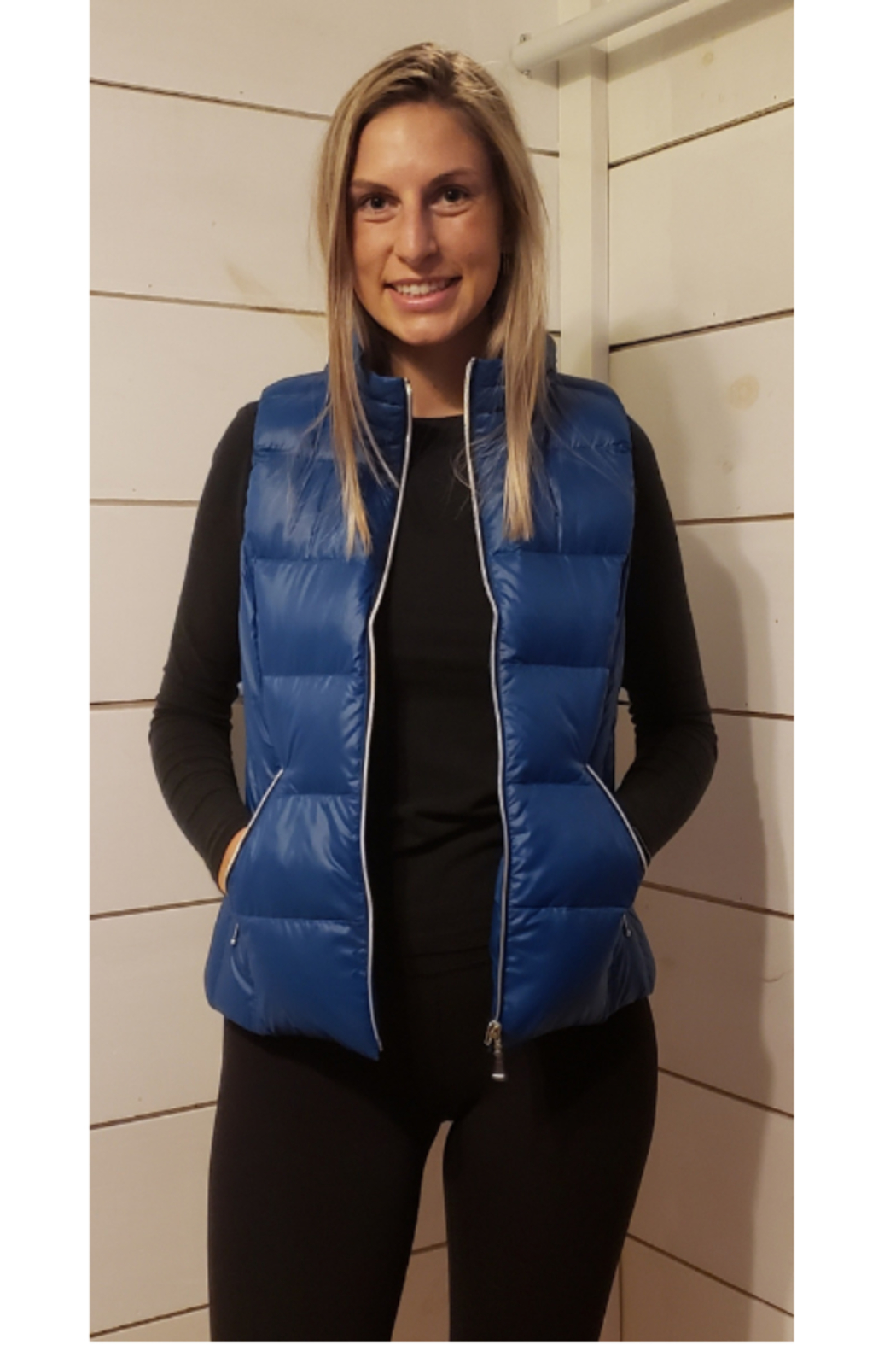 Anorak  Short Down Vest - Front Cropped Image