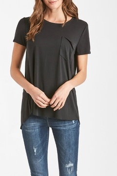 Shoptiques Product: Black Split-Back Tee