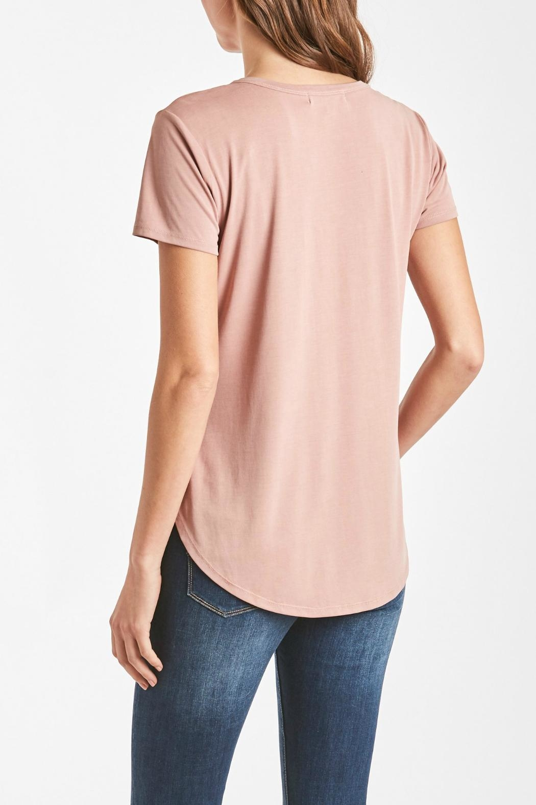 Another Love Lace-Up V-Neck Top - Back Cropped Image