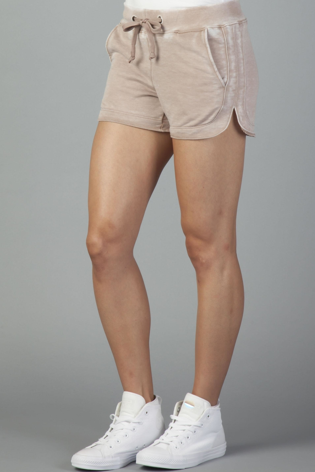 Another Love Mocha Leisure Shorts - Front Full Image