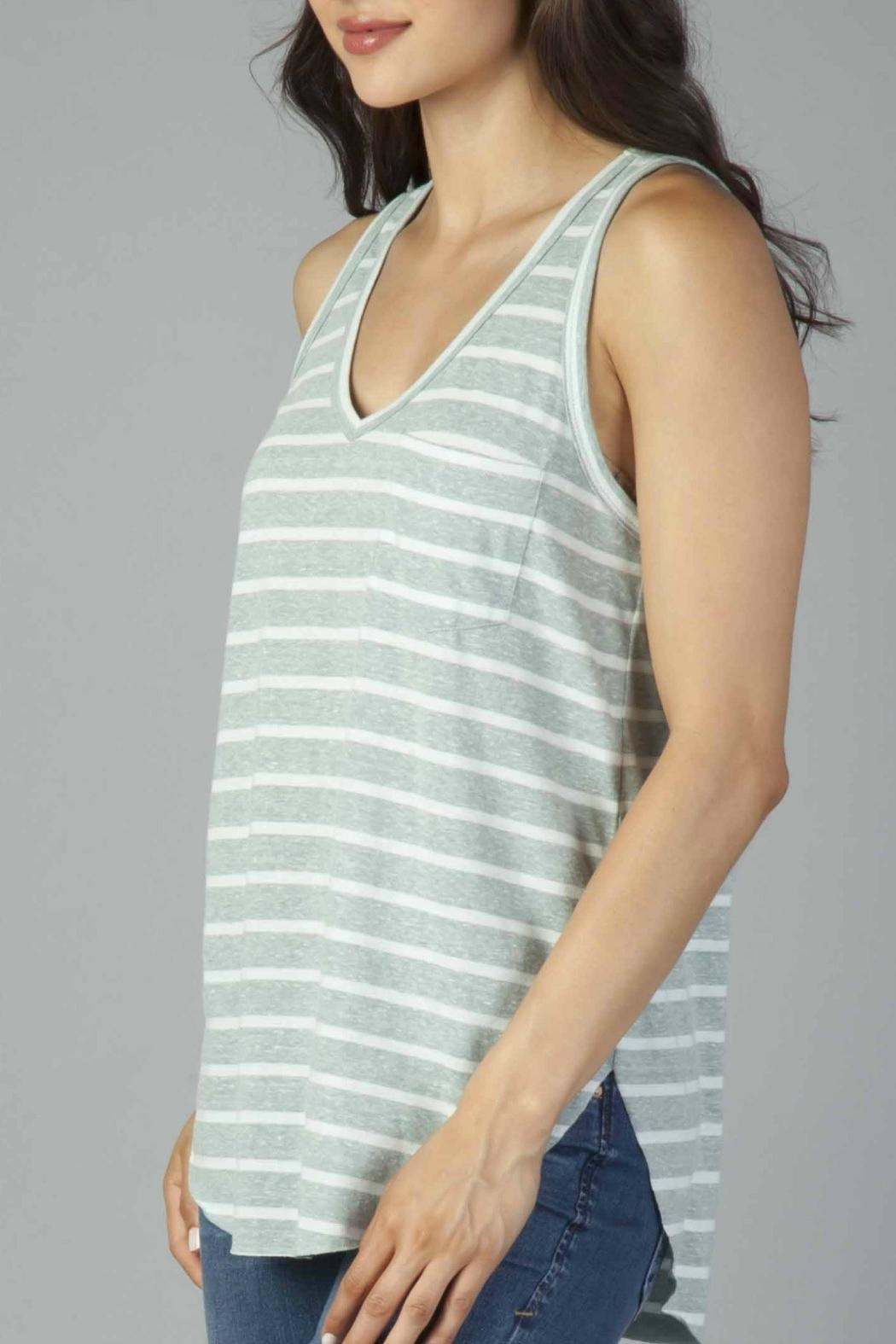 Another Love Striped Pocket Tank - Main Image