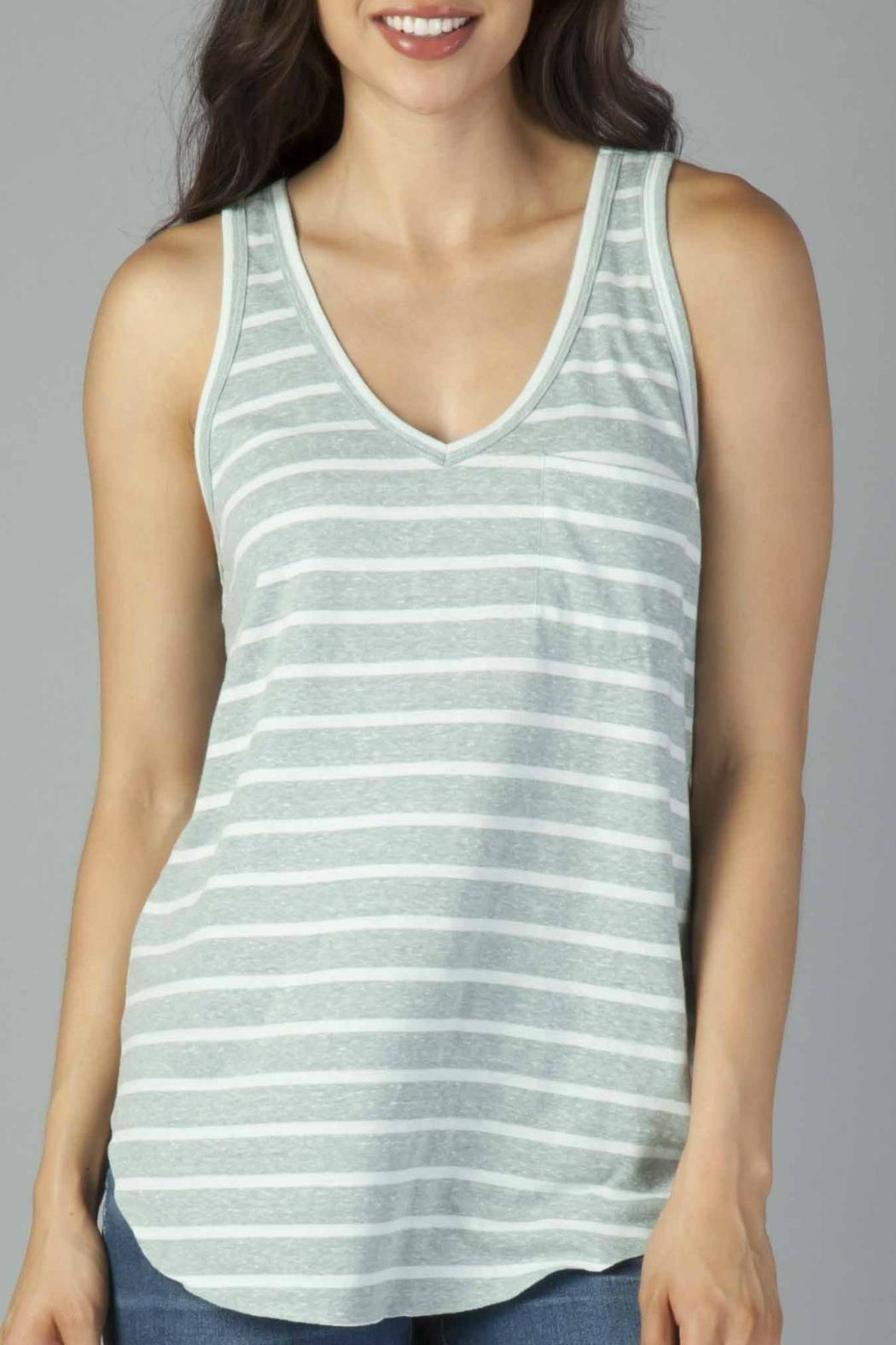 Another Love Striped Pocket Tank - Front Cropped Image