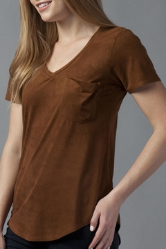 Shoptiques Product: Suede V Neck Tee