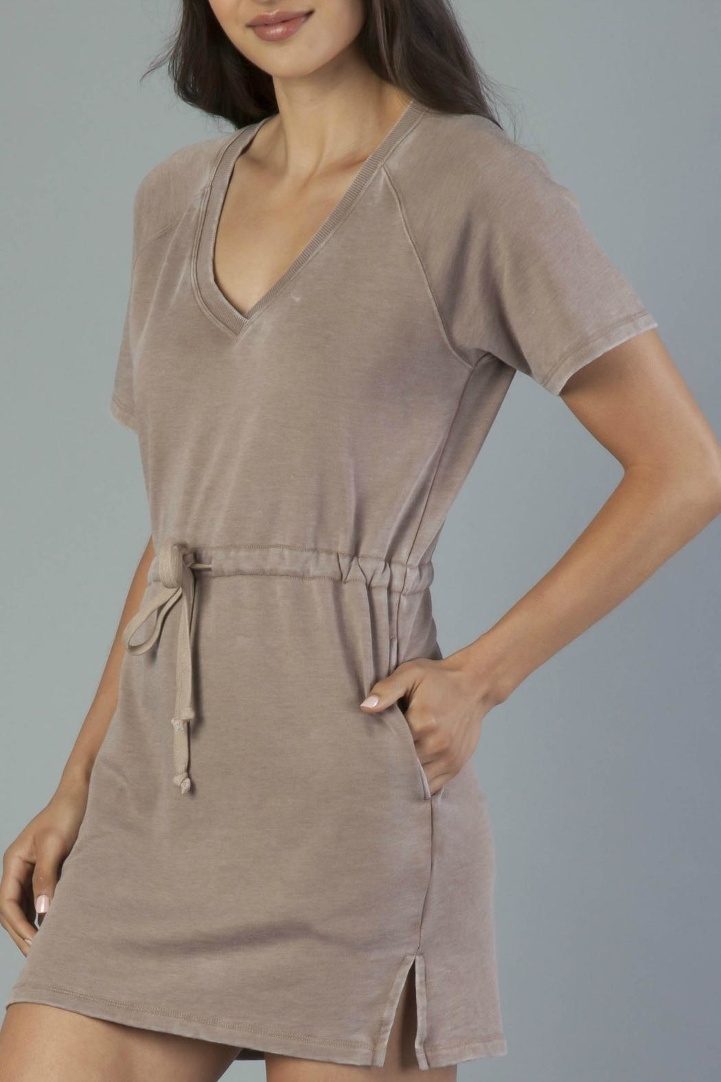 Another Love Tie Waist Dress - Front Full Image