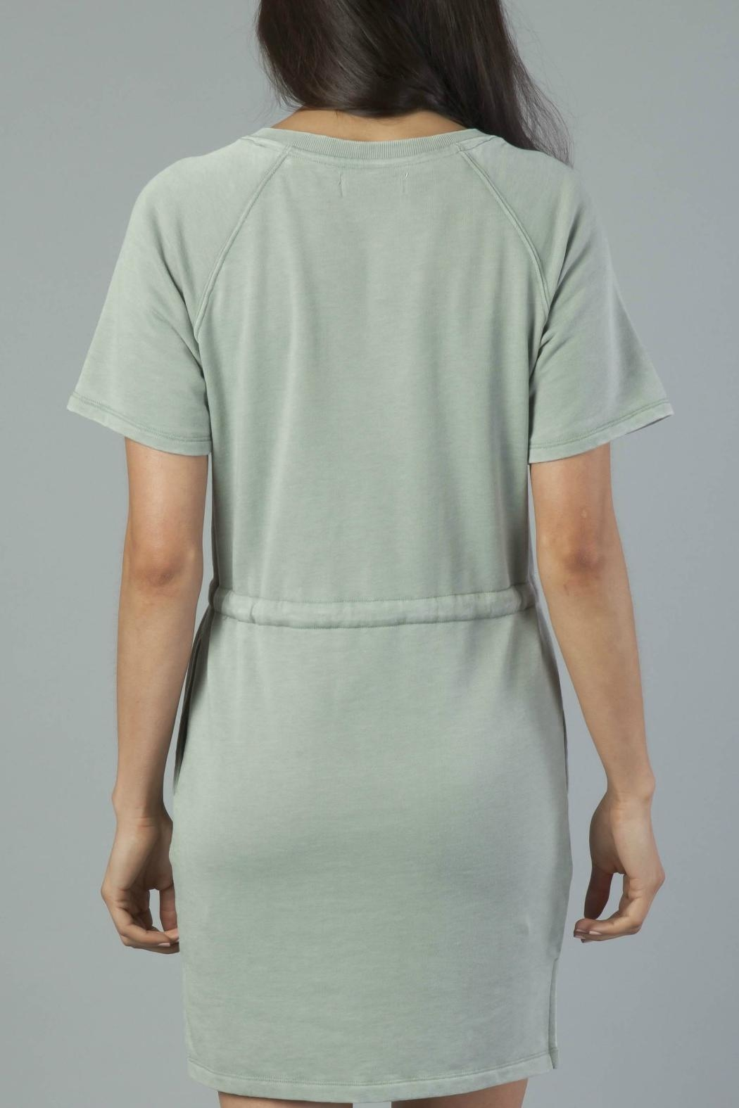 Another Love Tie Waist Dress - Back Cropped Image