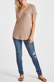 Another Love V-Neck Pocket Top - Front full body