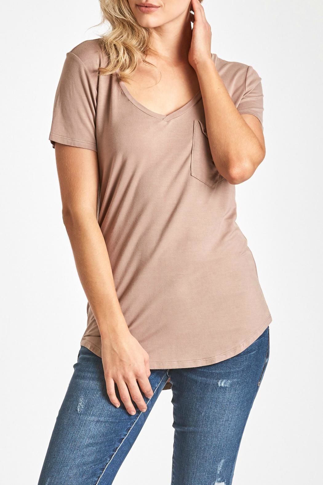 Another Love V-Neck Pocket Top - Main Image