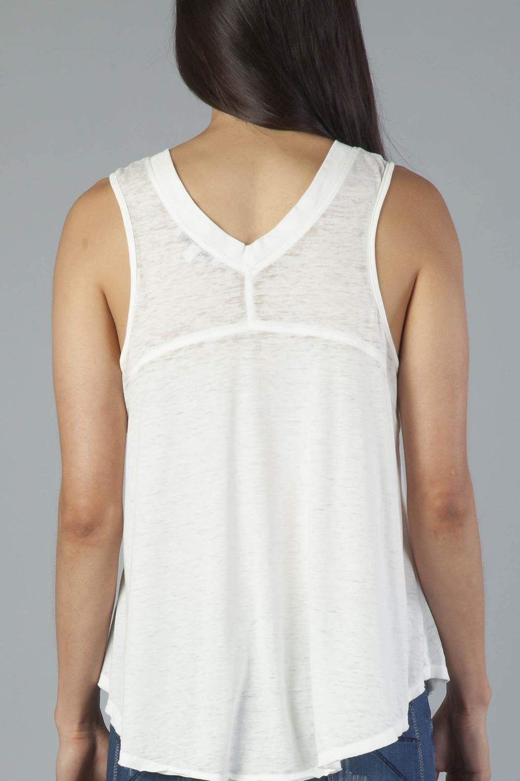Another Love V-Neck Sleeveless Tee - Back Cropped Image