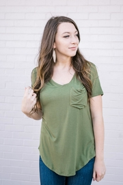 Another Love Vneck Pocket Tee - Product Mini Image