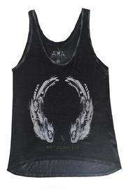 ANTAGONISTE Tank-Top Feathers - Front full body