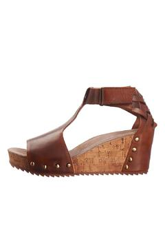 Shoptiques Product: Brown Leather Wedge