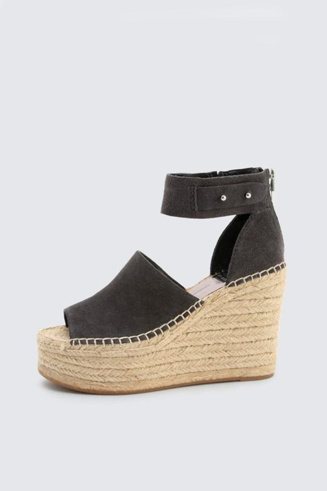 Dolce Vita Anthracite Suede Wedge - Main Image