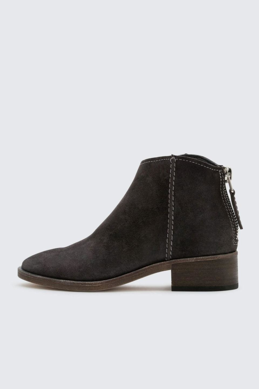 Dolce Vita Anthracite Tucker Booties - Front Cropped Image