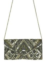 antik kraft Pewter Beaded Clutch - Front full body