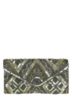 Shoptiques Product: Pewter Beaded Clutch