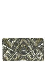 antik kraft Pewter Beaded Clutch - Product Mini Image