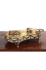 The Birds Nest ANTIQUE BRASS GARLAND TRAY - Product Mini Image