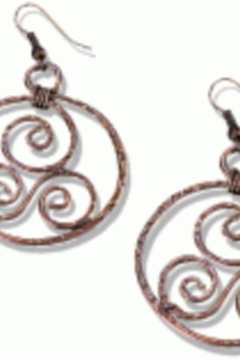 Back in Love Antique copper circle/swirl earrings - Alternate List Image
