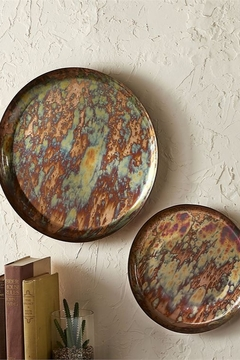 Gift Craft Antique copper wall plate - Product List Image