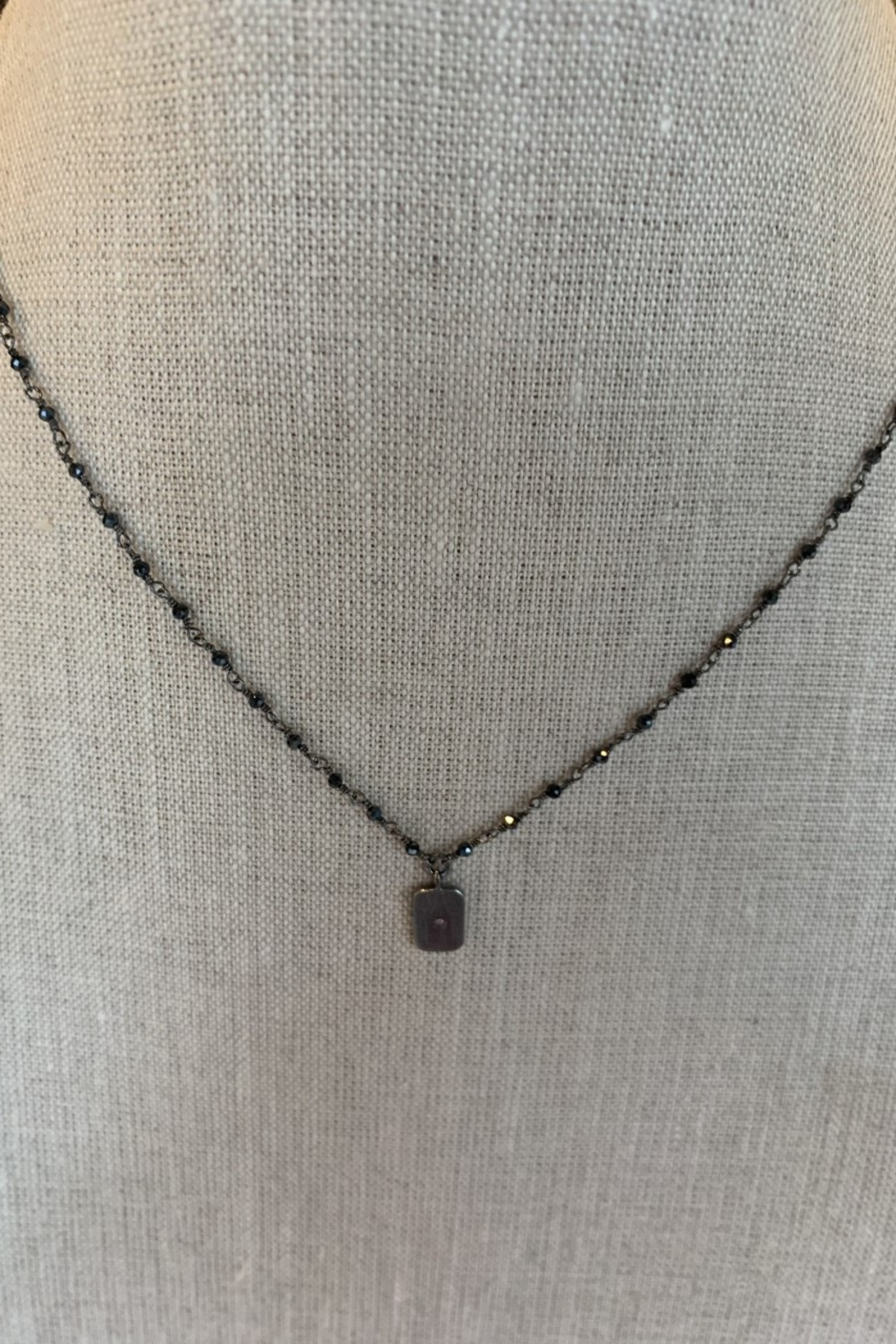 Ela Rae Antique Rhodium Necklace - Main Image
