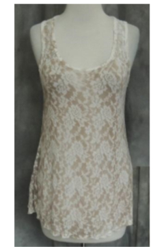 T Party Antique Rose Lace Tank Top - Product List Image