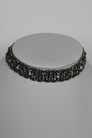 Kendra Scott Antique Silver Choker - Front cropped