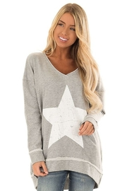 Mono B Antique Star Longline Sweatshirt - Product Mini Image