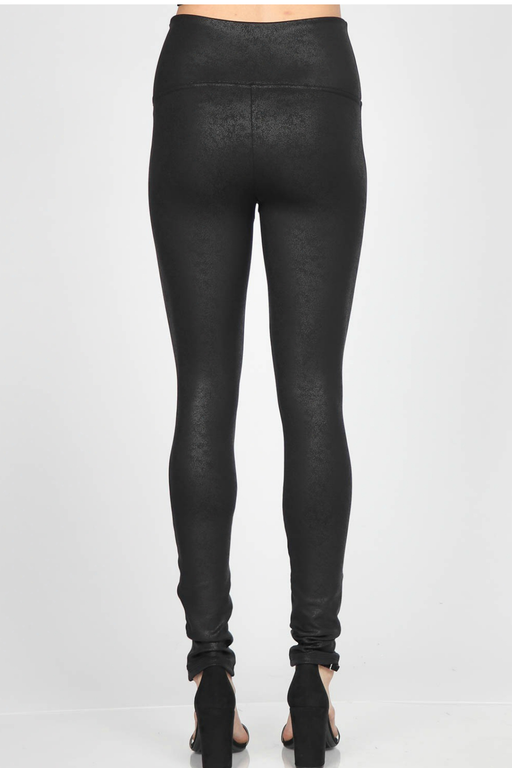 M. Rena  Antiqued Leatherette Legging - Front Full Image
