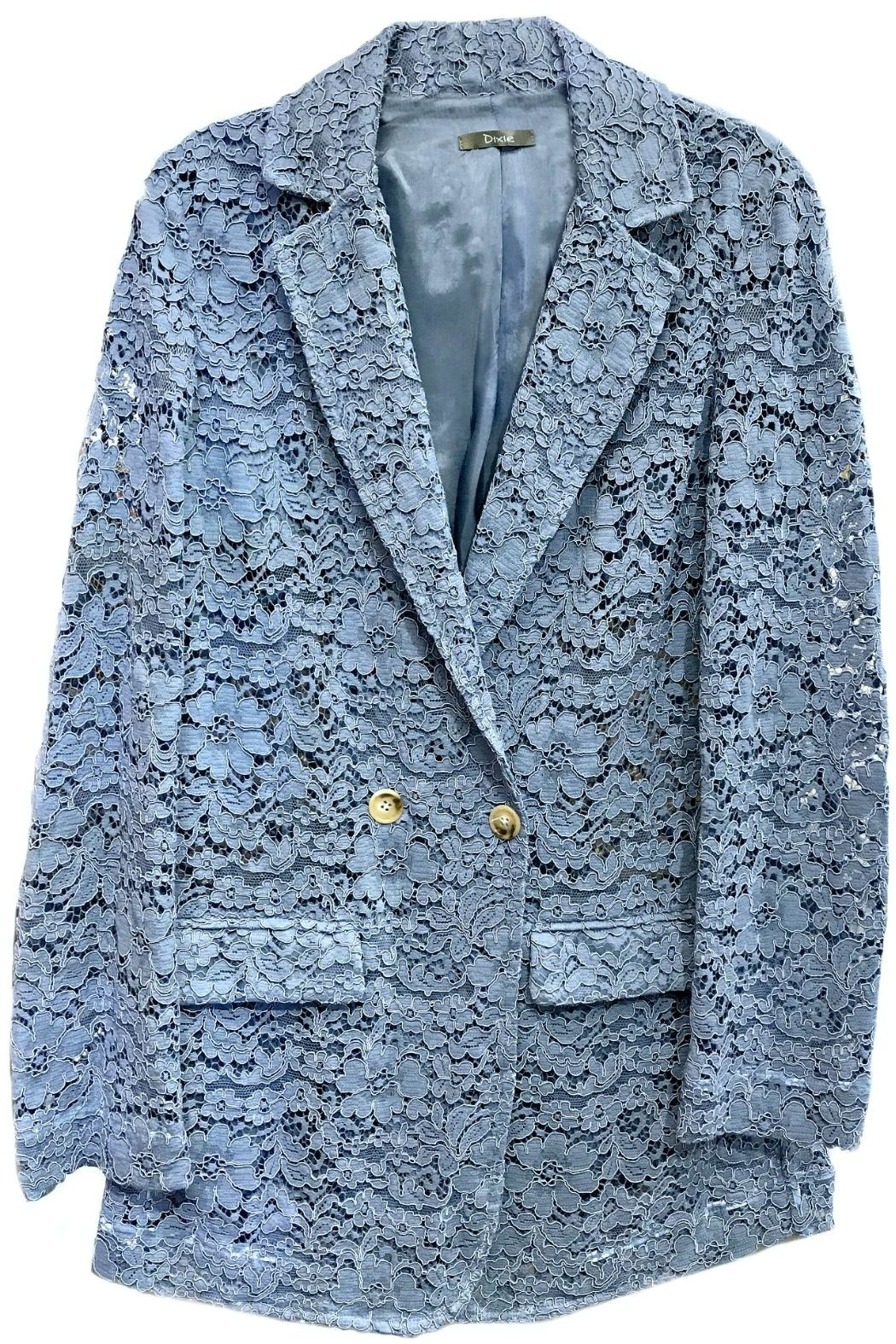 Dixie Blue Lace Blazer - Front Cropped Image