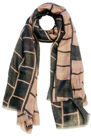 ANTONELLO SERIO Grey Pink Scarf - Front cropped