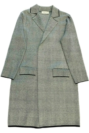 ANTONELLO SERIO Herringbone Knit Coat - Product Mini Image